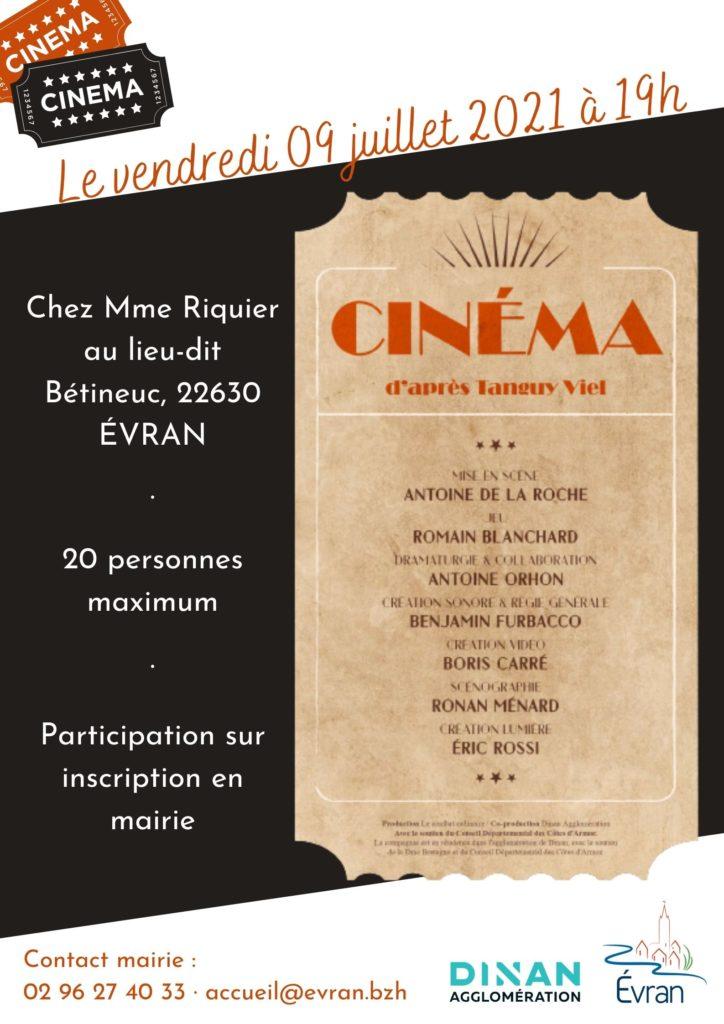 Cinéma chez l'habitant Evran
